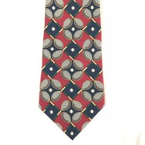 Tommy Hilfiger Tie - Tennis Theme Blue and Red
